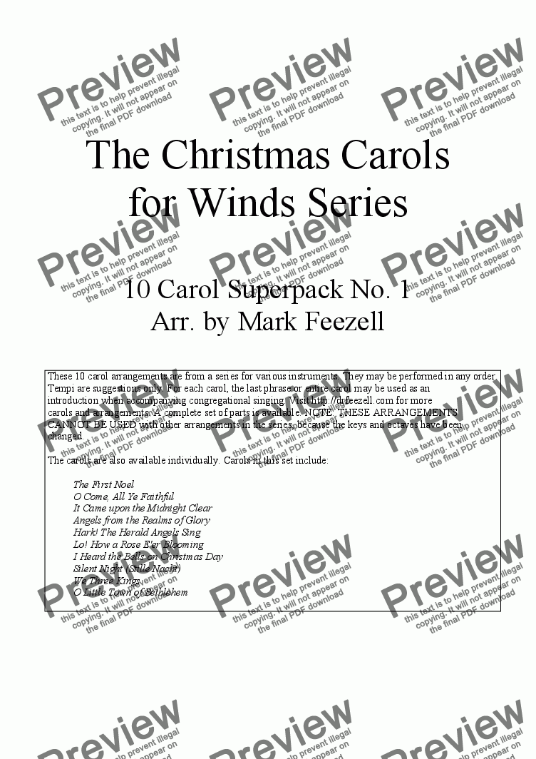 page one of Christmas Carols (Trombone Quartet / Quintet / Trombone Choir / Ensemble), Vol. 1