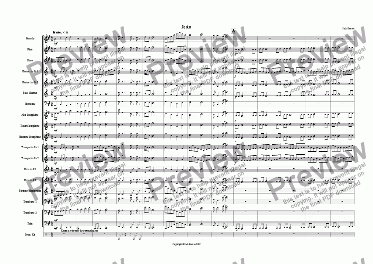 page one of Jesto (Wind Band)