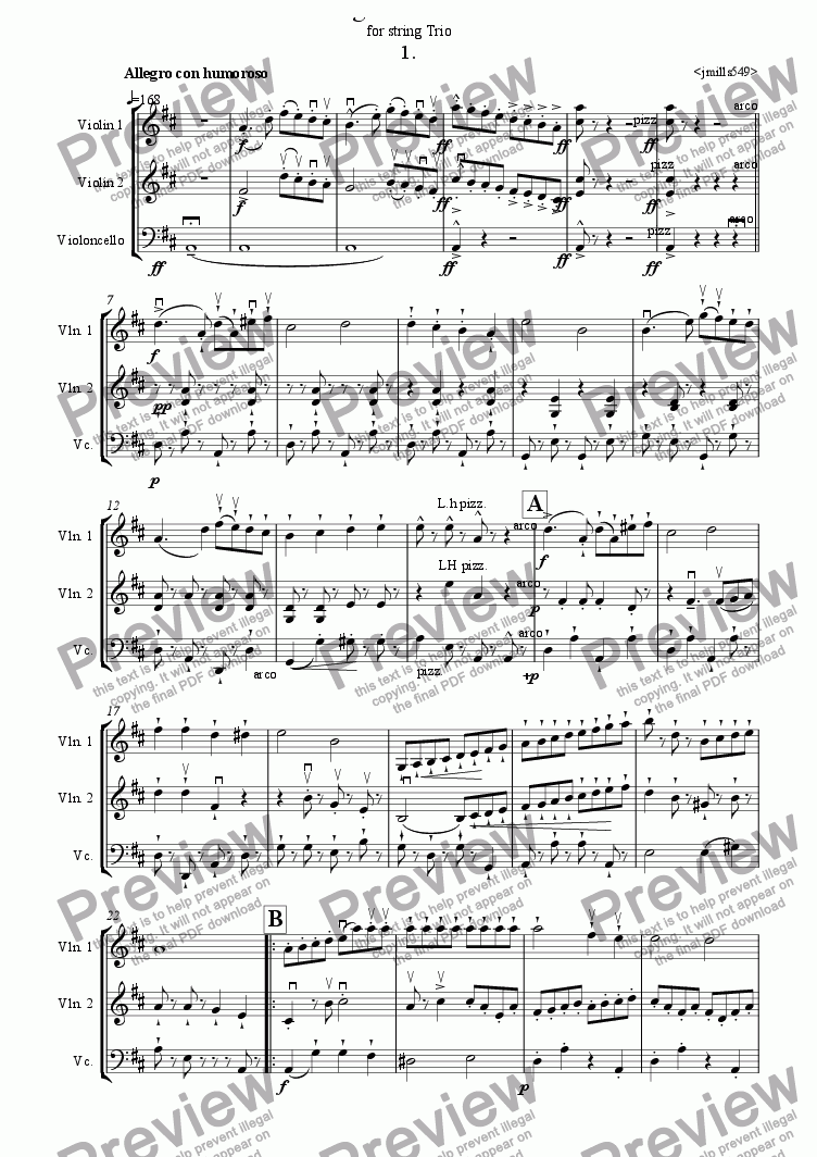 page one of Allegri Divertimenti