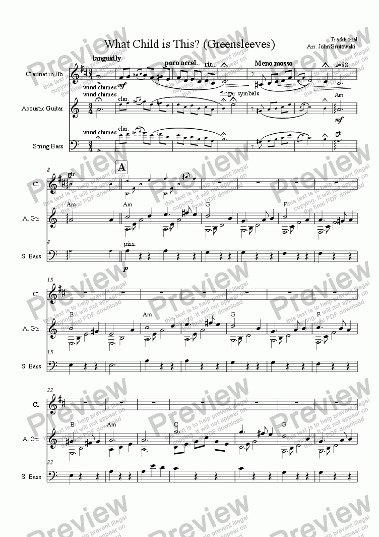 page one of What Child is This? (Greensleeves)