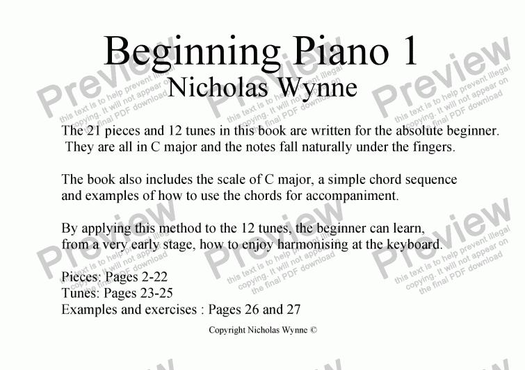 Beginning Piano Book 1 Download Sheet Music Pdf File