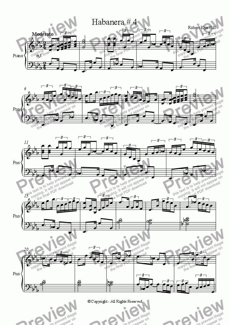 page one of Habanera # 4