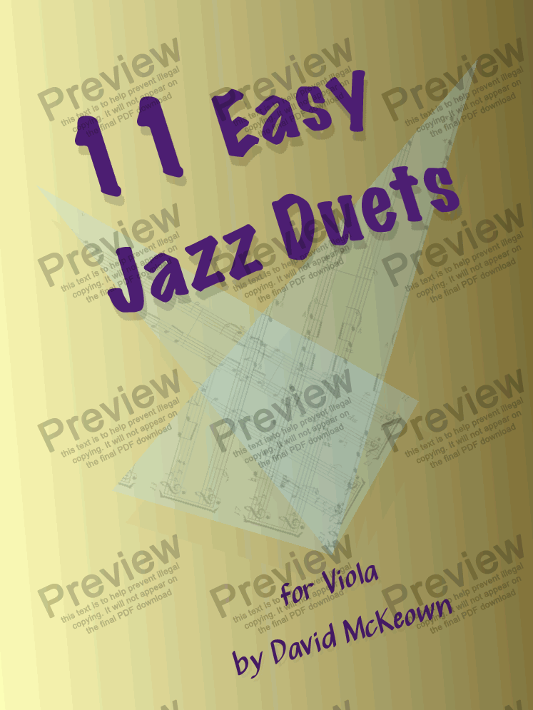 page one of 11 Easy Jazz Duets for Viola