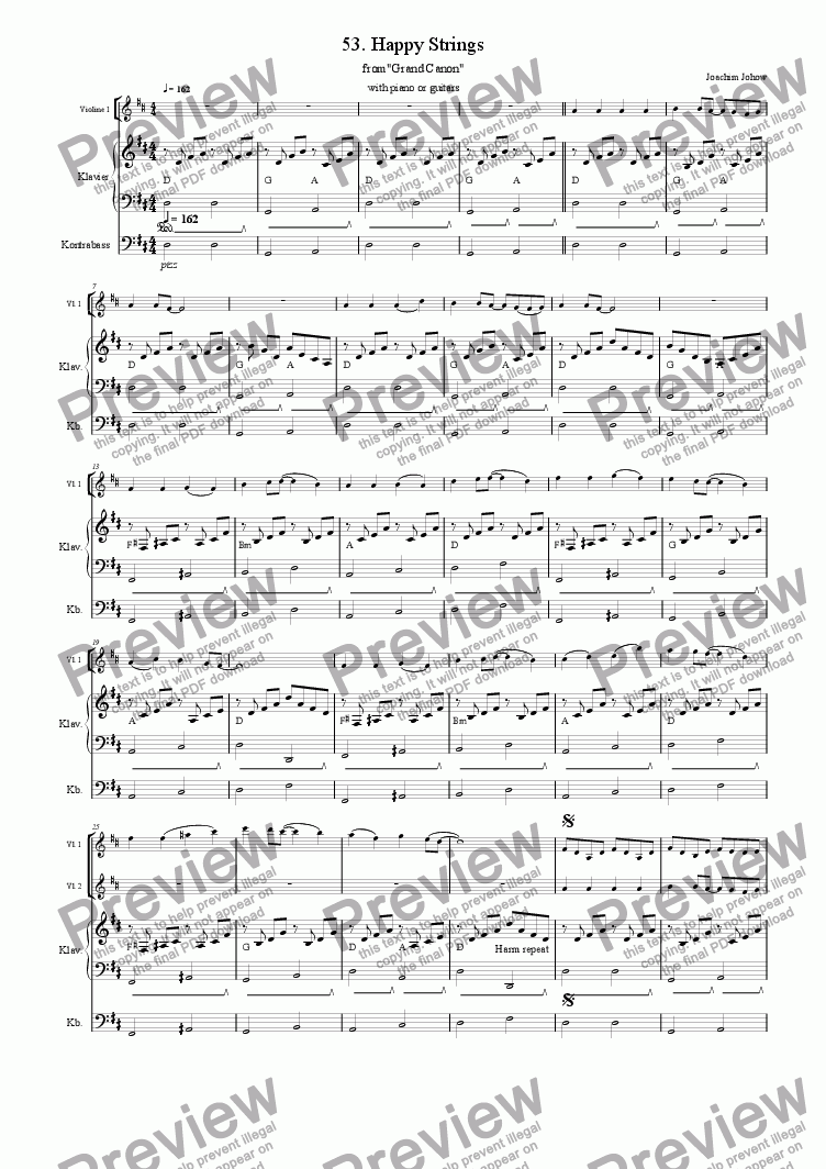 page one of Grand Canon 53 (Happy Strings - 3 Vl)