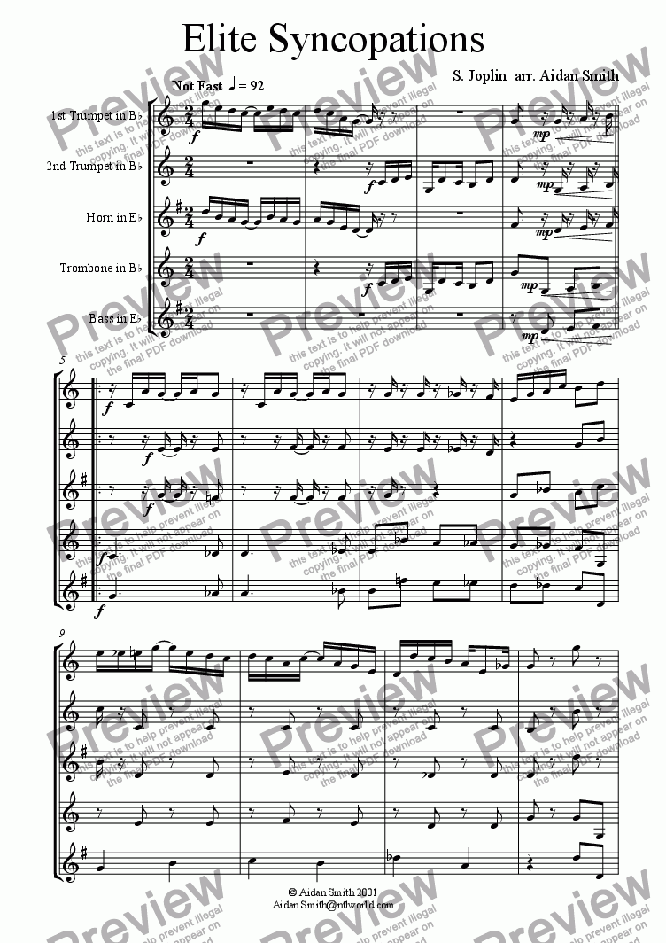 page one of Elite SyncopationsASALTTEXT