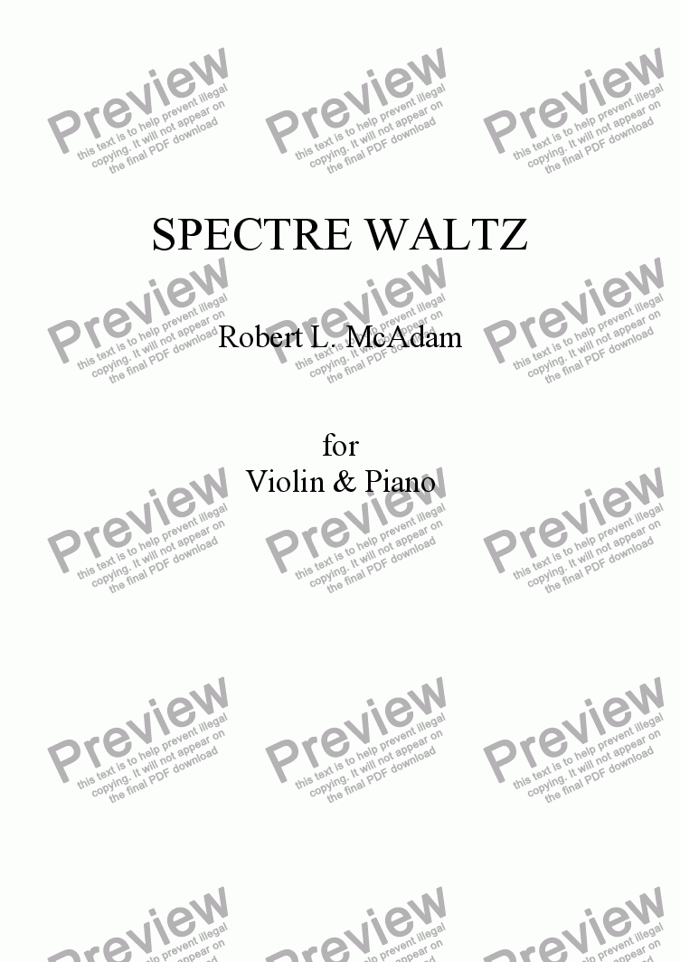page one of SPECTRE WALTZ