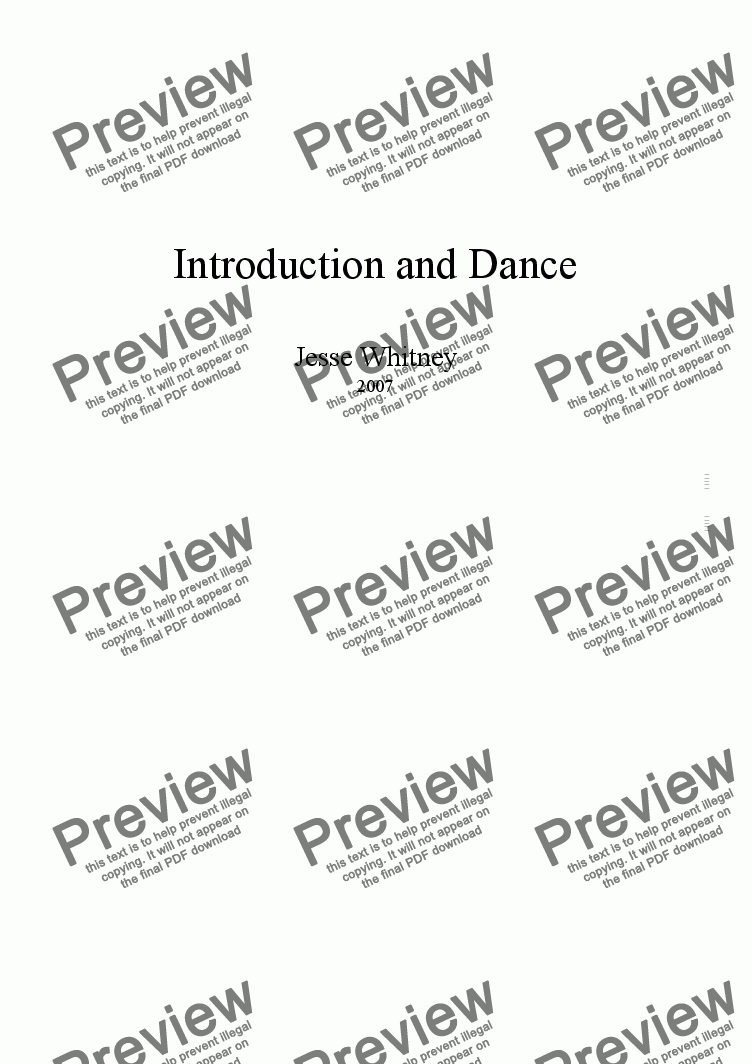 page one of Introduction & Dance