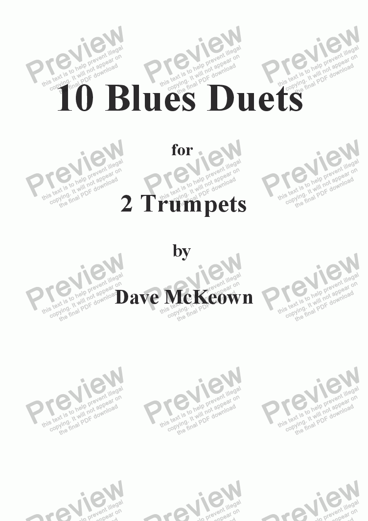 page one of 10 Blues Duets for Trumpet