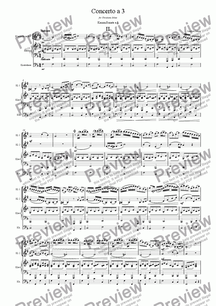 page one of Concerto a 3 Cl B (Round 2)