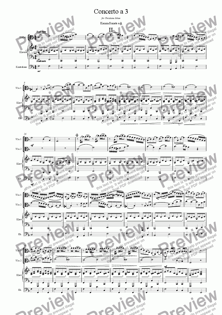 page one of Concerto a 3 Vla (Round 2)