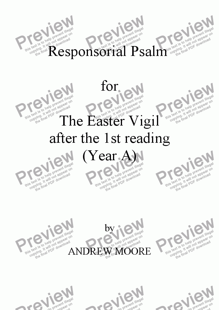 page one of Easter Vigil 1 (Year A)
