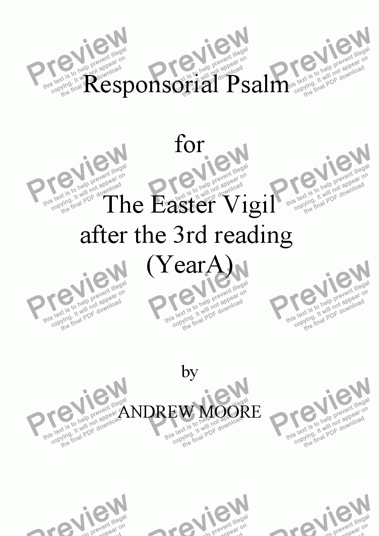page one of Easter Vigil 3 (Year A)