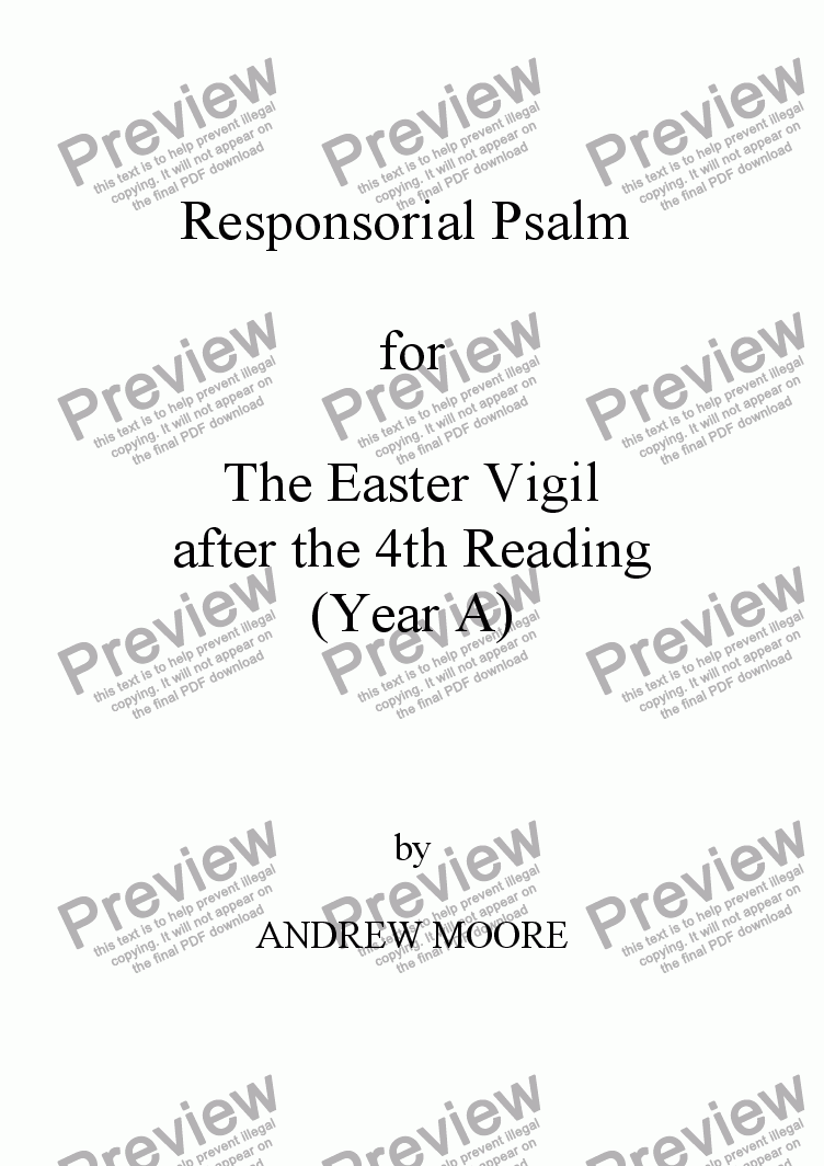 page one of Easter Vigil 4 (Year A)