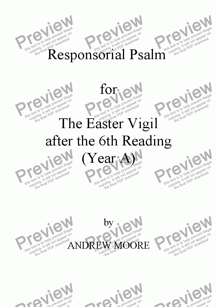 page one of Easter Vigil 6 (Year A)