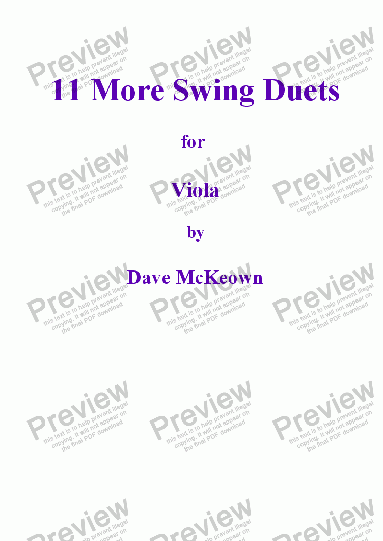 page one of 11 More Swing Duets for ViolaASALTTEXT