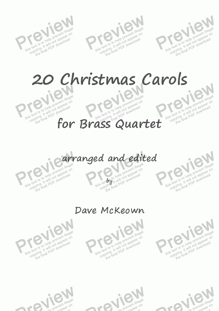 page one of  20 Favourite Christmas Carols for Brass Quartet