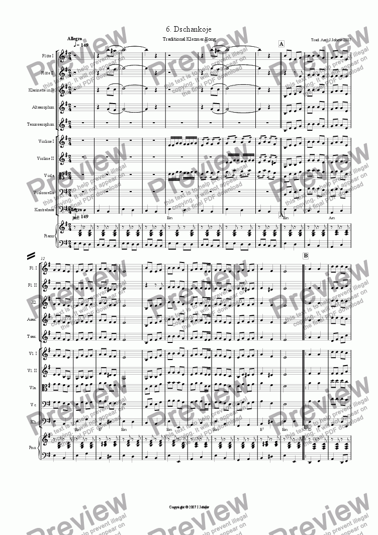 page one of My Klezmer Book 06 (Dschankoje)