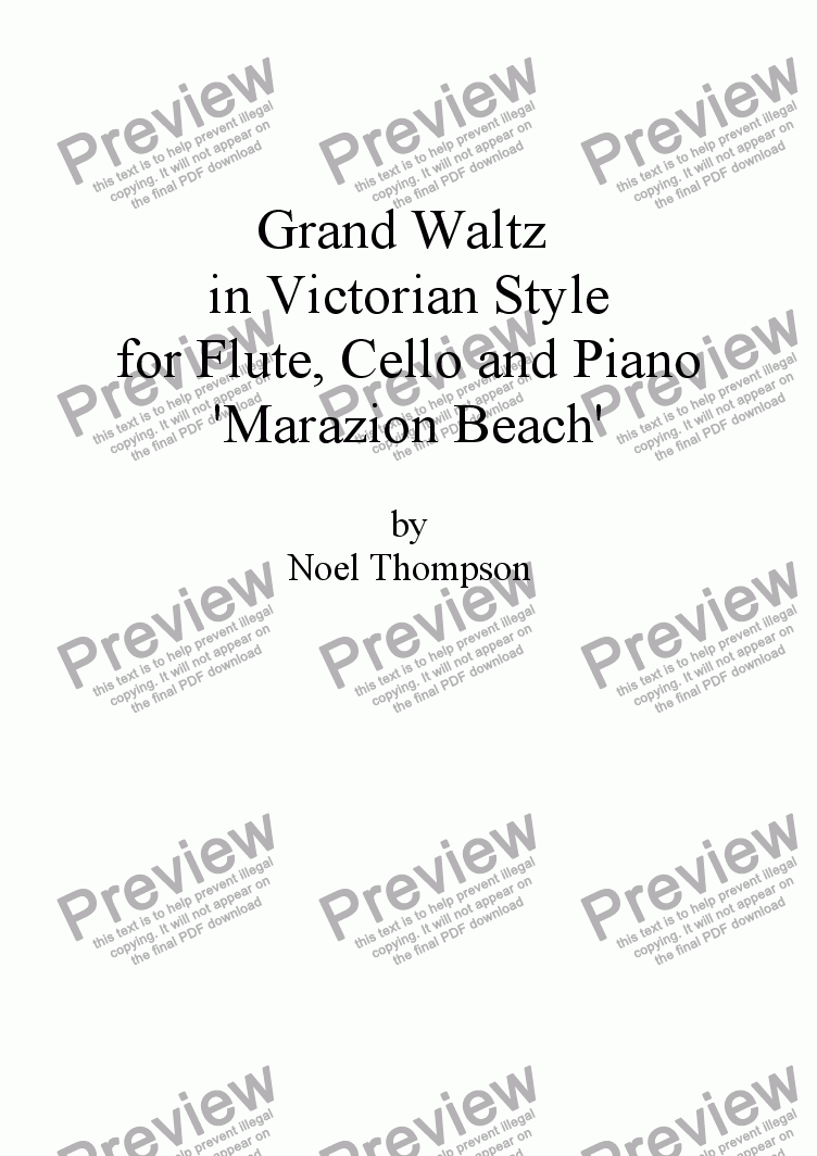 page one of Grand Waltz in Victorian Style - flute,cello & piano (edited)