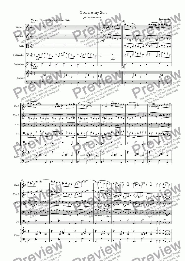 page one of My Strings 01 (You are my Sun)ASALTTEXT