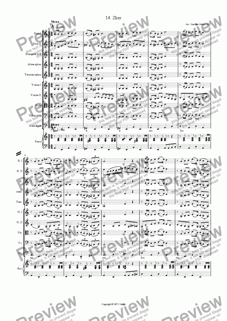 page one of My Klezmer Book 14 (Sher)ASALTTEXT
