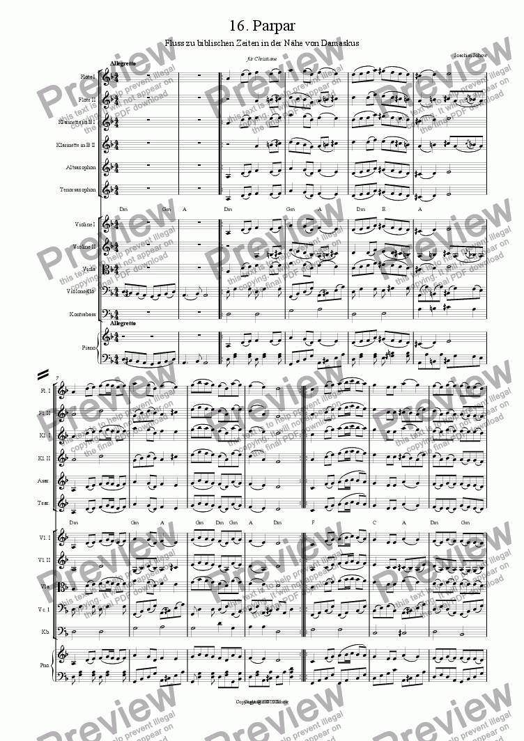page one of My Klezmer Book 16 (Parpar)