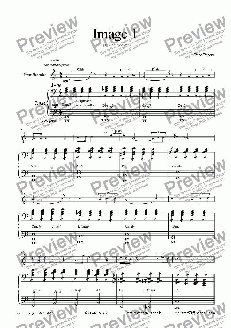 page one of Image 1[flute or recorder version]