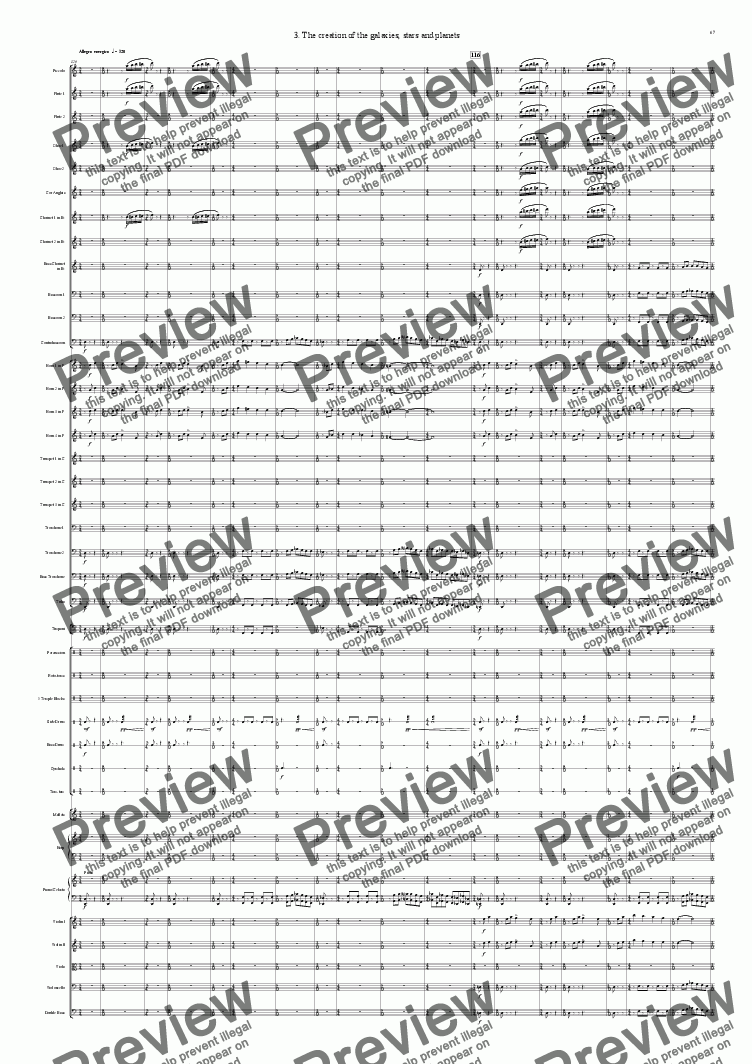 page one of Symphony No 42 Part 1 3rd movement