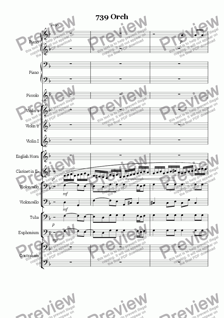 page one of 739 Orch