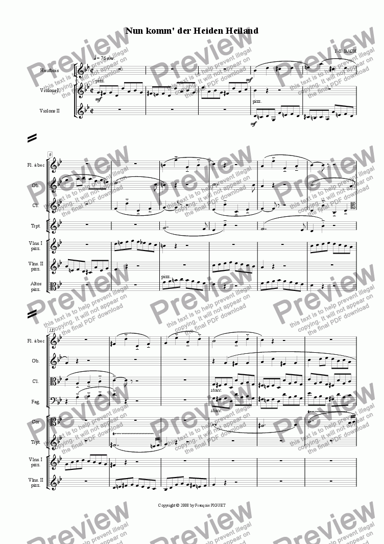 page one of J.-S. BACH: