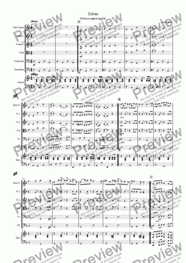 page one of My School Orchestra (03 Zoltan - Strings)ASALTTEXT