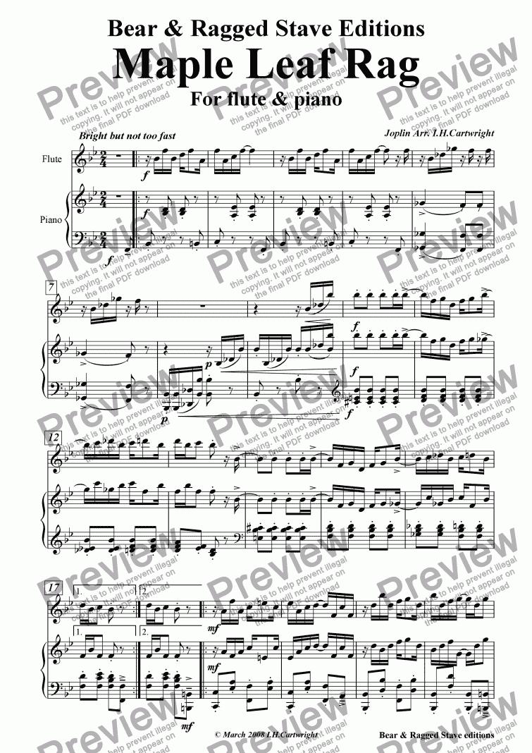 maple leaf rag sheet music easy pdf
