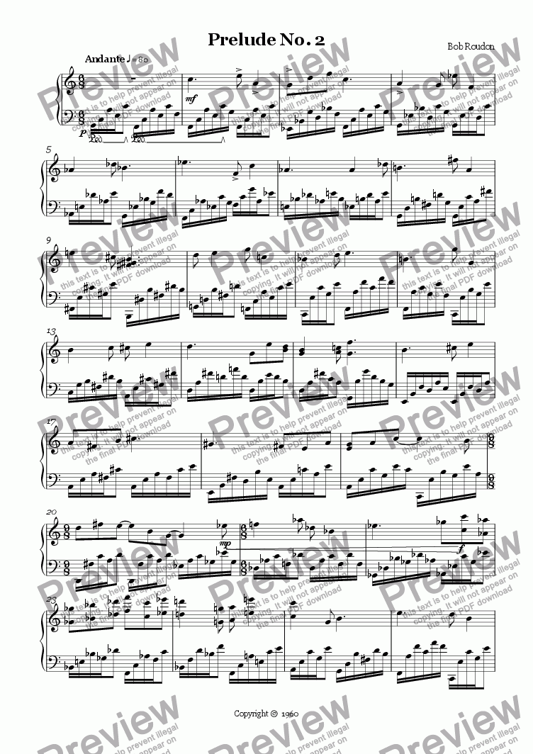 page one of Prelude No. 2