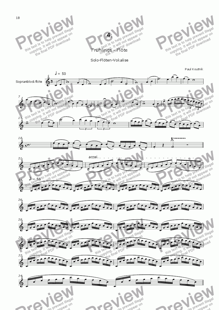 page one of Cantata 3. Engelsgesaenge 4. for Soprano, Alto & Recorder