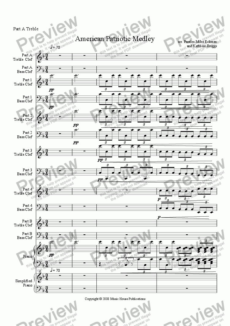 page one of Instant Ensemble: American Patriotic Medley