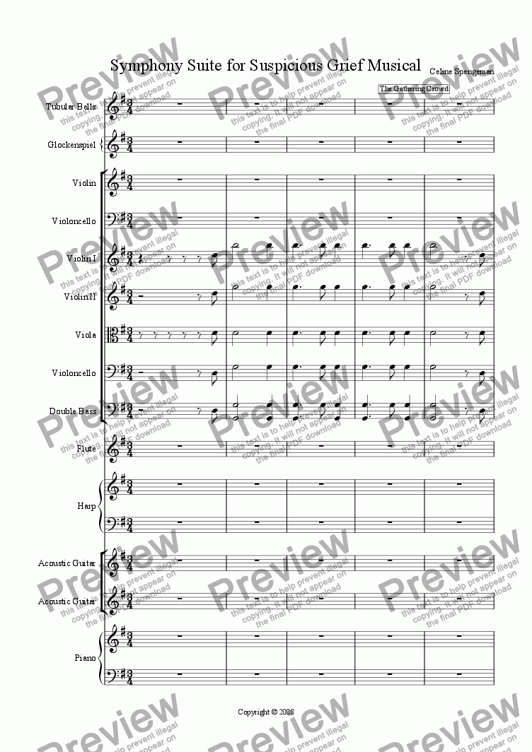 page one of Symphonic Suite for Suspicious Grief musicalASALTTEXT