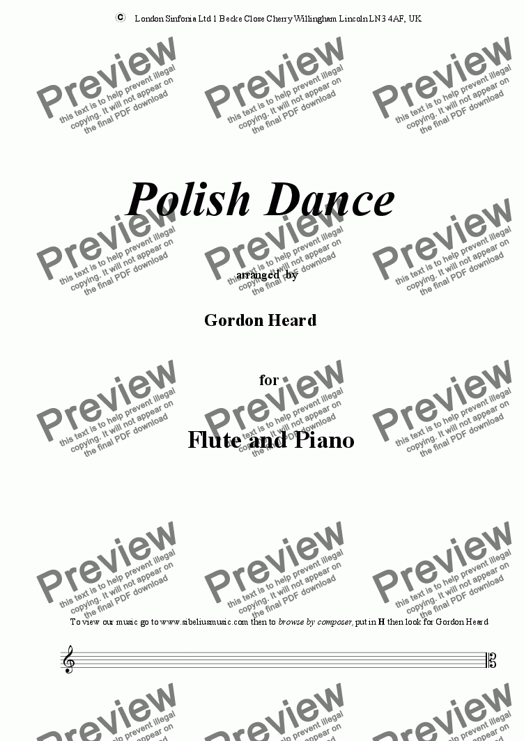 page one of Polish Dance