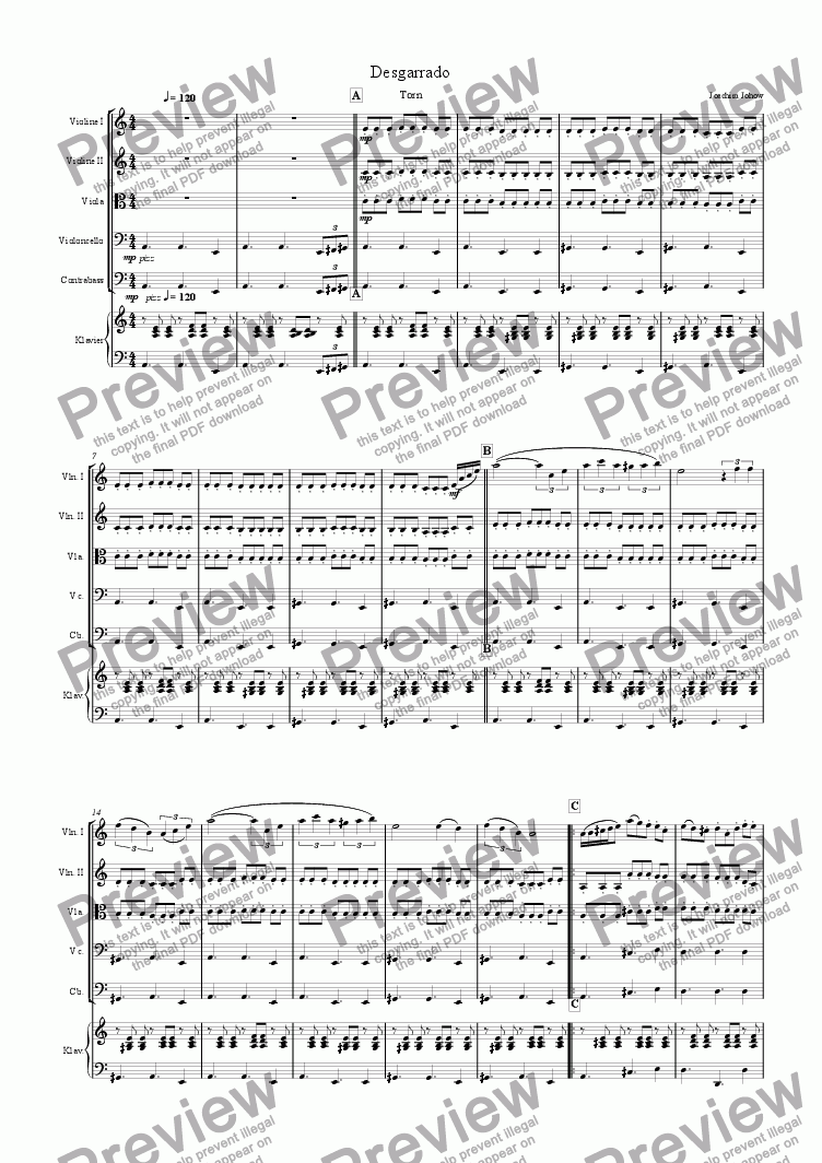 page one of My Strings 02 (Desgarrado)
