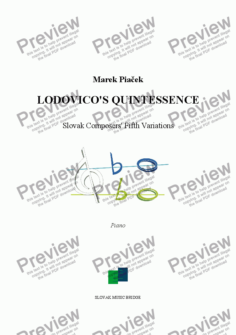 page one of Lodovico's Quintessence