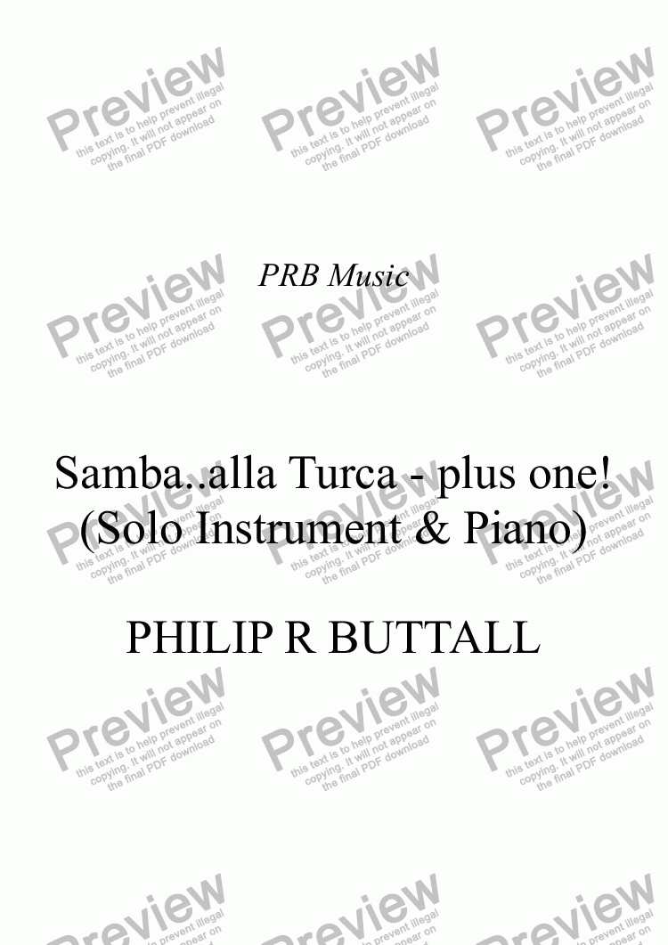 page one of Samba..alla Turca - plus one!ASALTTEXT