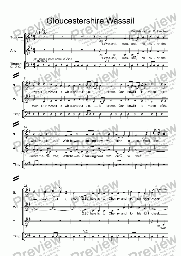 page one of Gloucestershire Wassail