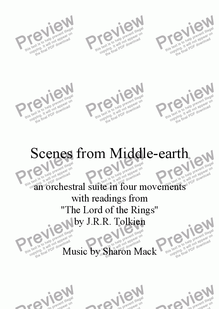 page one of Scenes from Middle-earth