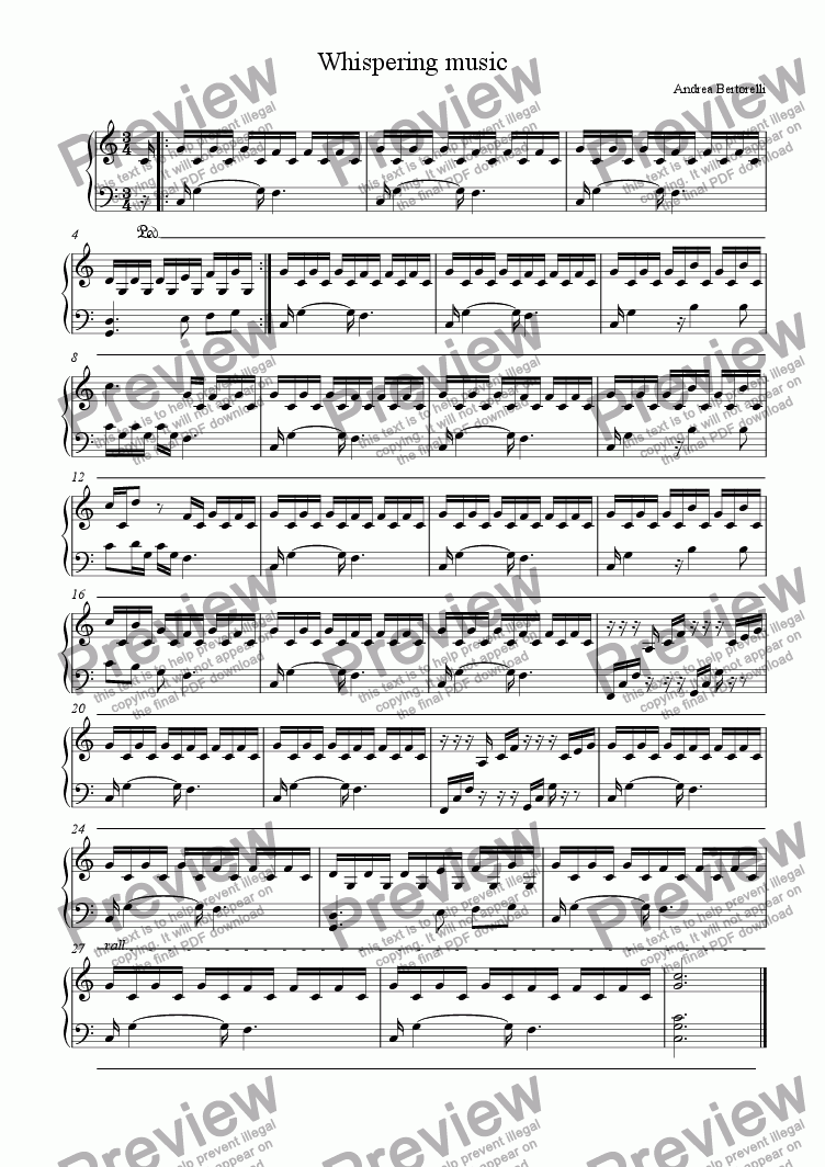 page one of Whispering music