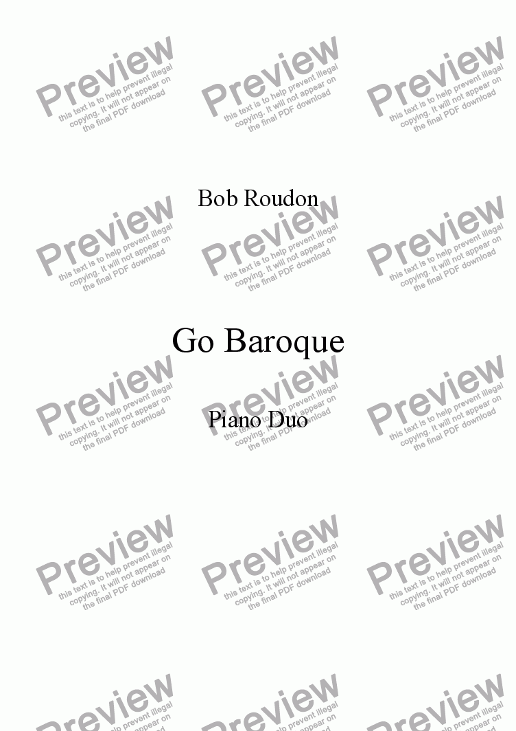 page one of Go Baroque