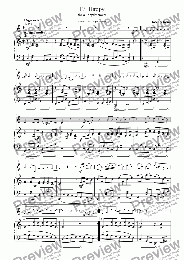 page one of Sax 17 (Happy)