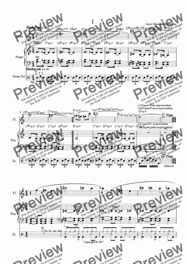 page one of Jazz Sonatina 1st movement