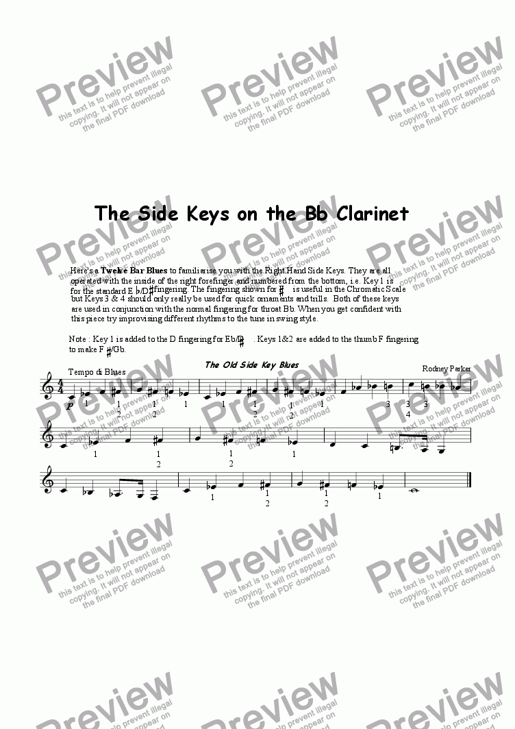 page one of Side Key Blues