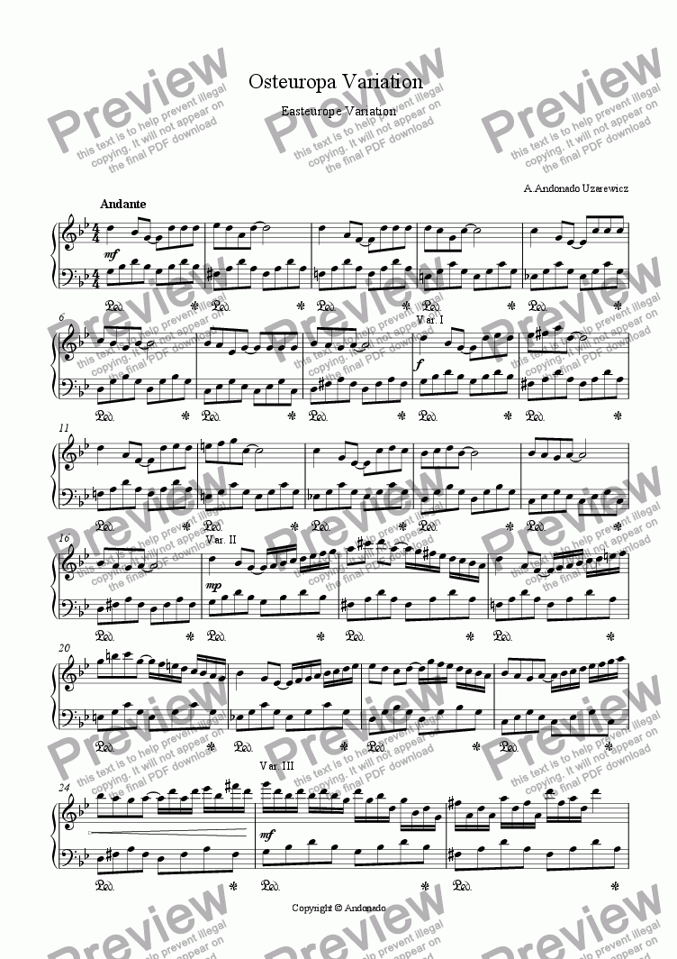 page one of Easteurope Variation