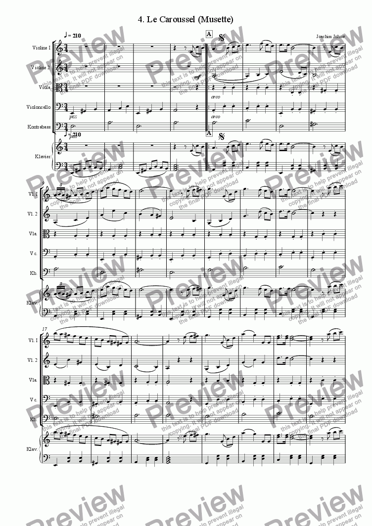 page one of Orchester-Musette 04 (Le Caroussel -Strings and Piano)