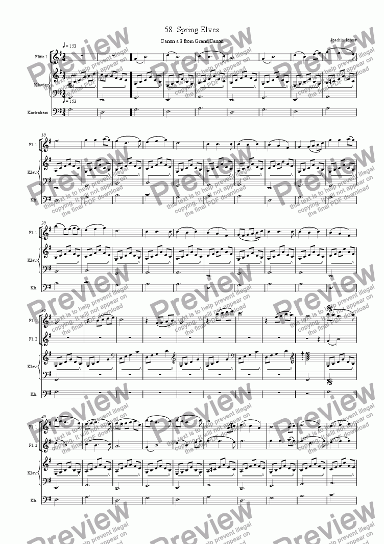page one of Grand Canon 58 (Spring Elves - 3 Fl)