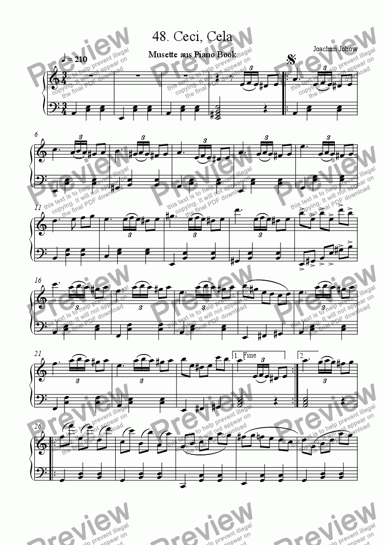 page one of Piano Book 048 ( Ceci, Cela Musette)ASALTTEXT